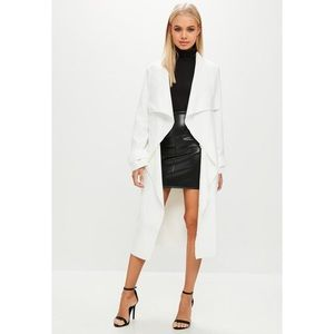 Missguided White Waterfall Duster Coat